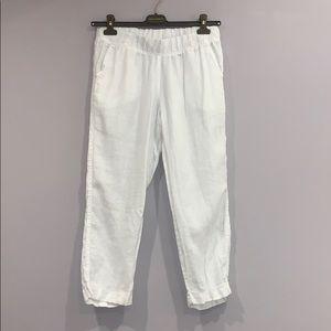 Allen Allen Cropped Linen Pants